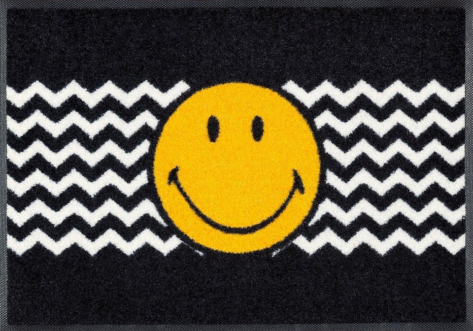 fu matte smiley zickzack wash dry by kleen tex rechteckig h he 7 mm online kaufen otto. Black Bedroom Furniture Sets. Home Design Ideas