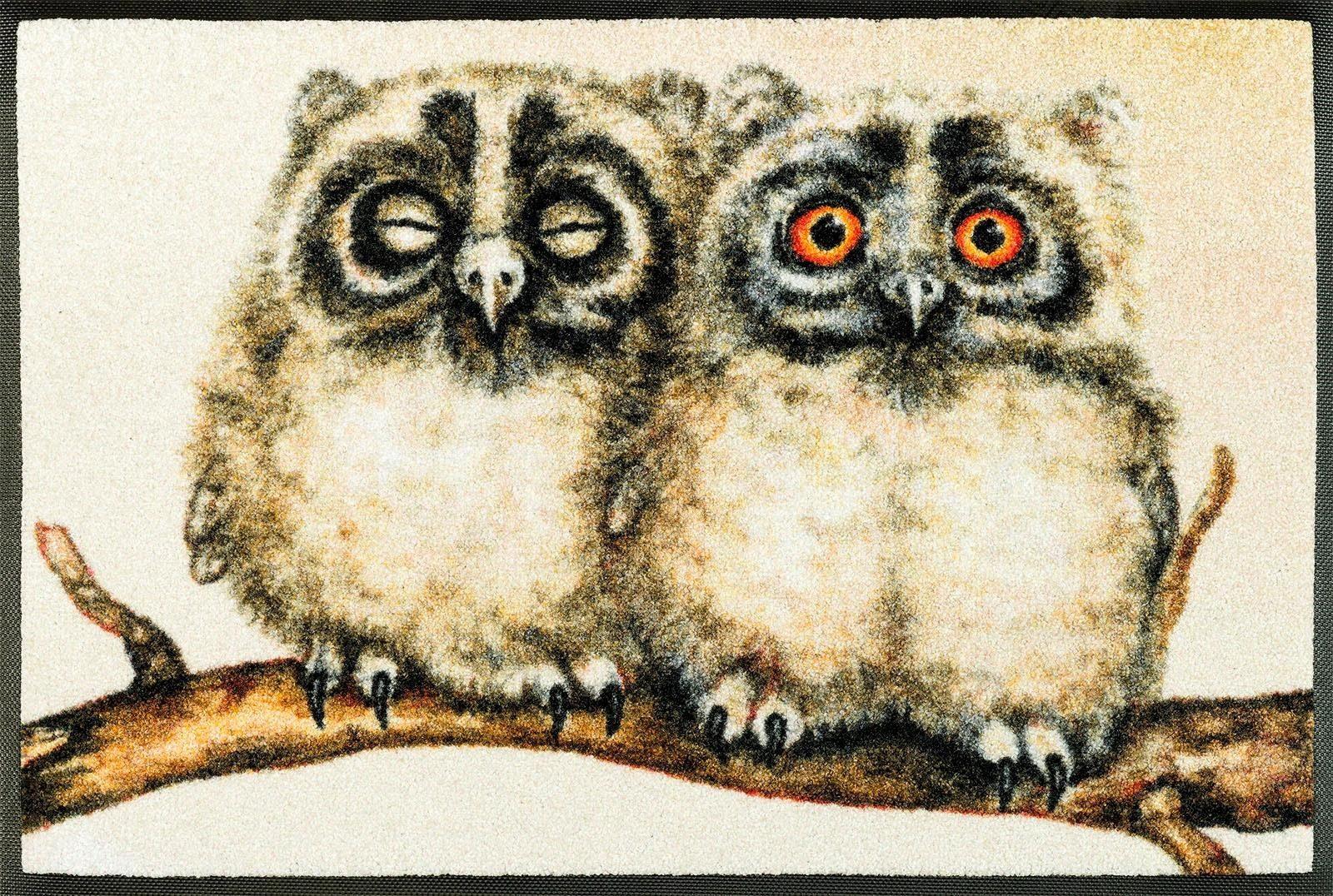 Fußmatte »Two Owls«, wash+dry by Kleen-Tex, rechteckig, Höhe 7 mm
