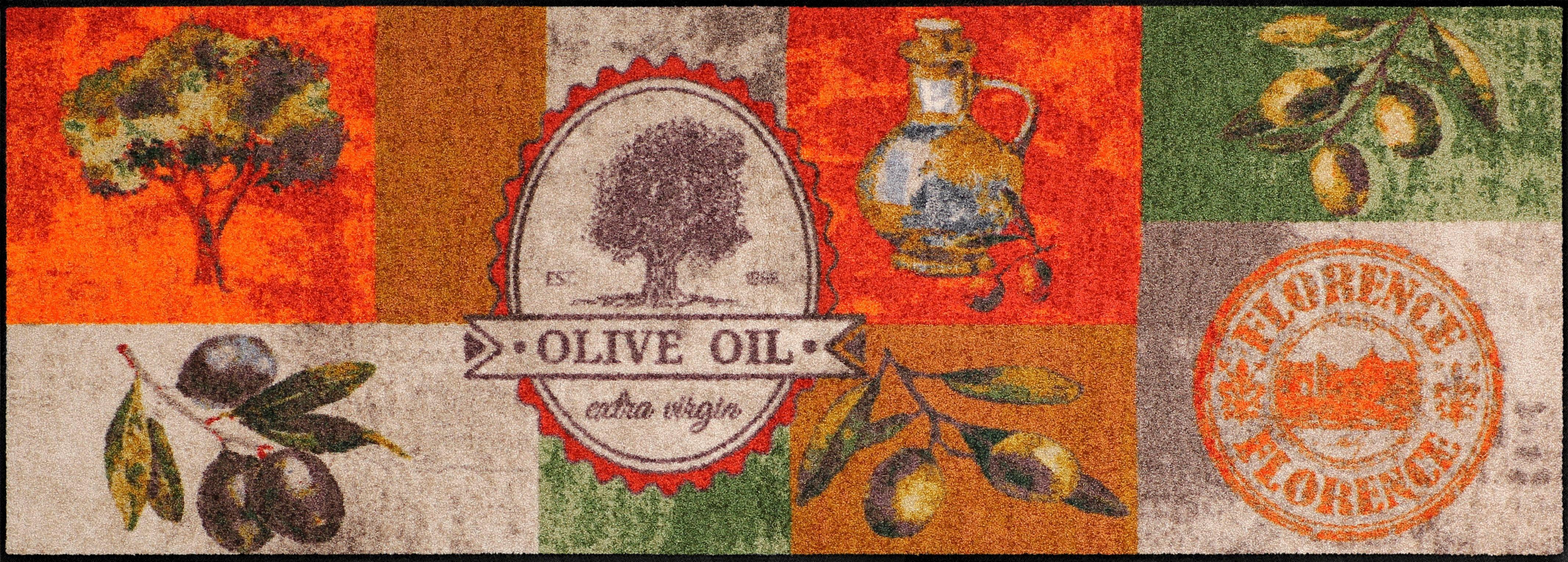 Läufer »Olive Oil«, Salonloewe, rechteckig, Höhe 6 mm