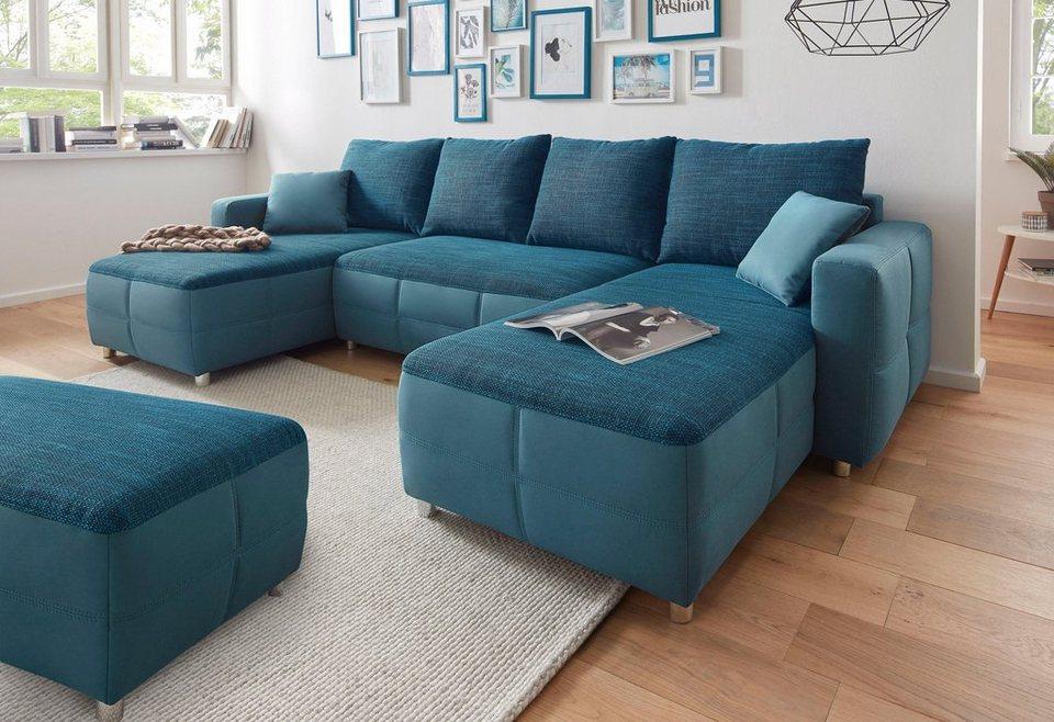 Sit & More Wohnlandschaft XL mit Bettfunktion und Bettkasten online ...
