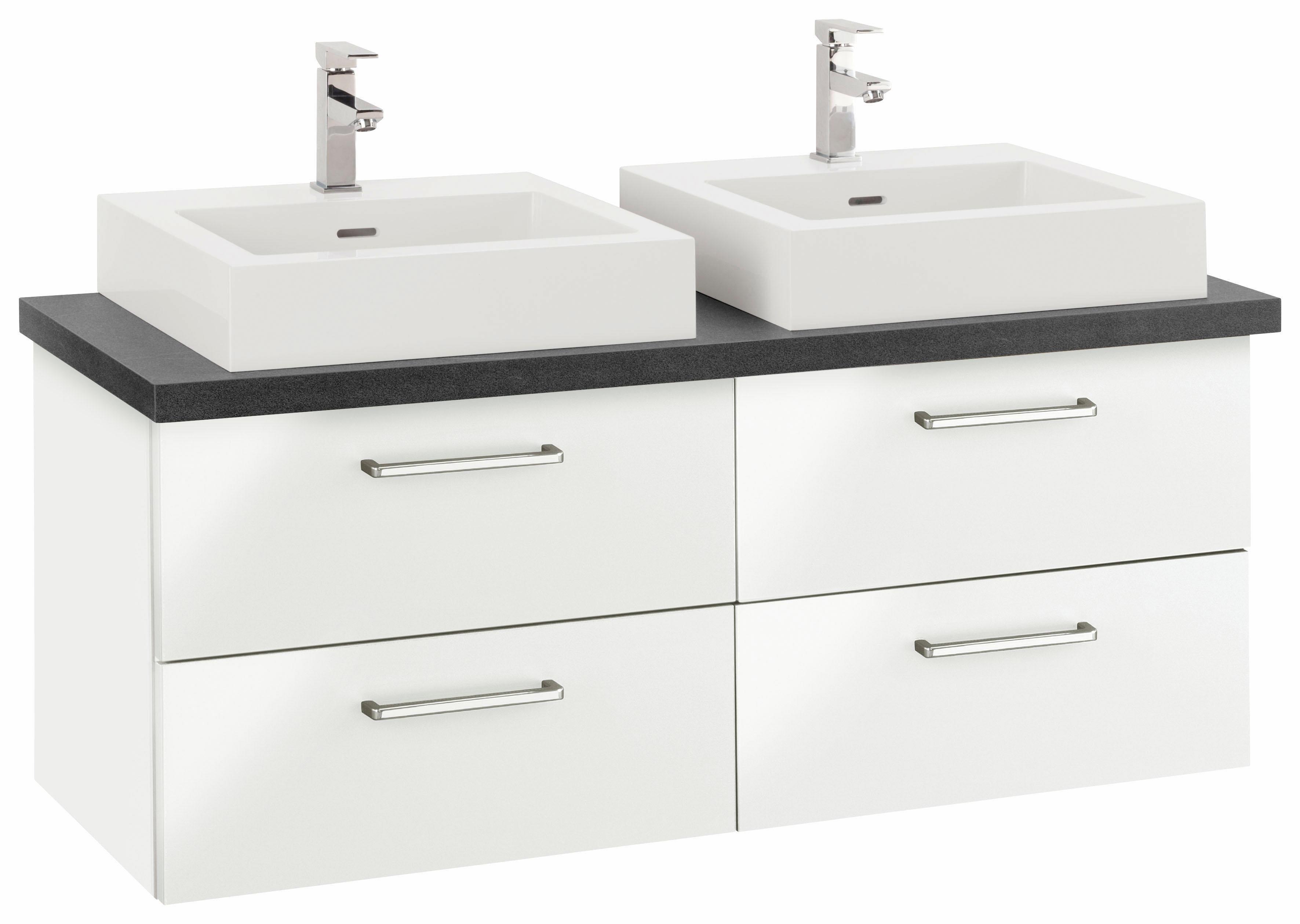 OPTIFIT Waschtisch »Doha« | Bad > Badmöbel > Badmöbel-Sets | Anthrazit - Matt - Weiß - Glanz - Chrom | Kastanie - Holzwerkstoff - Hpl - Mdf - Melamin | OPTIFIT