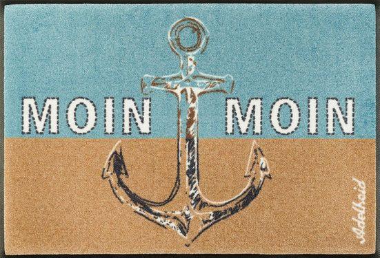 Fußmatte »Moin Moin«, wash+dry by Kleen-Tex, rechteckig, Höhe 9 mm, In- und Outdoor geeignet