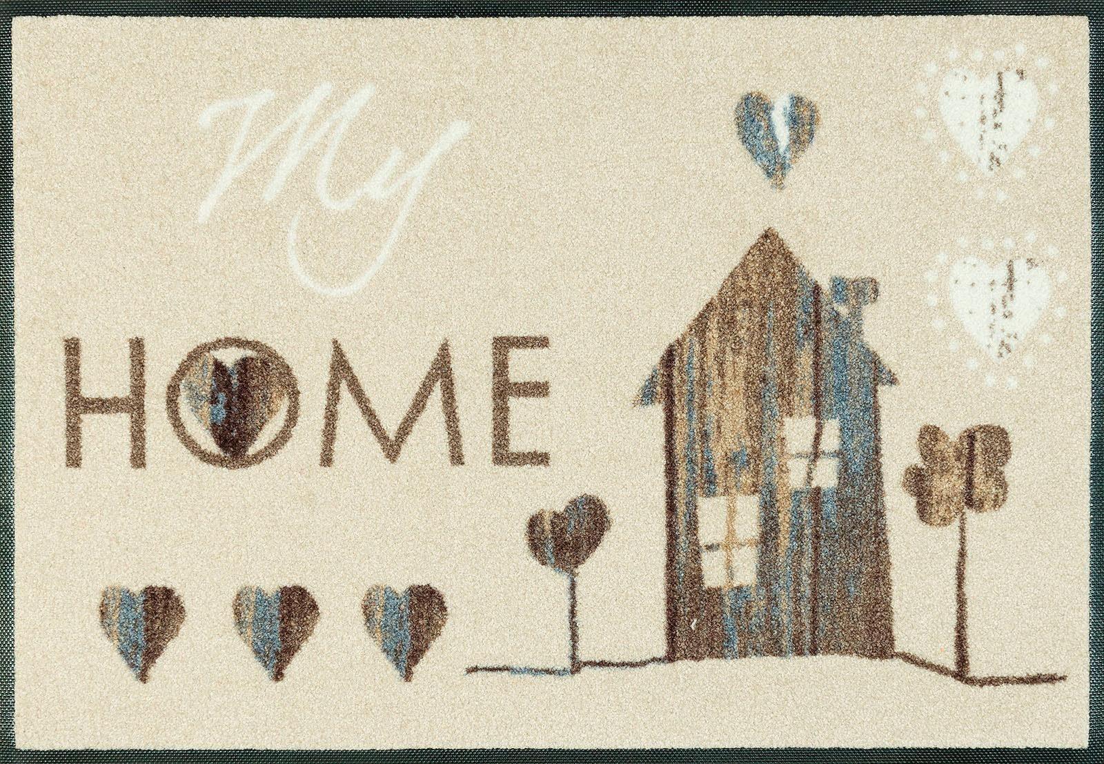 Fußmatte »My Home«, wash+dry by Kleen-Tex, rechteckig, Höhe 7 mm