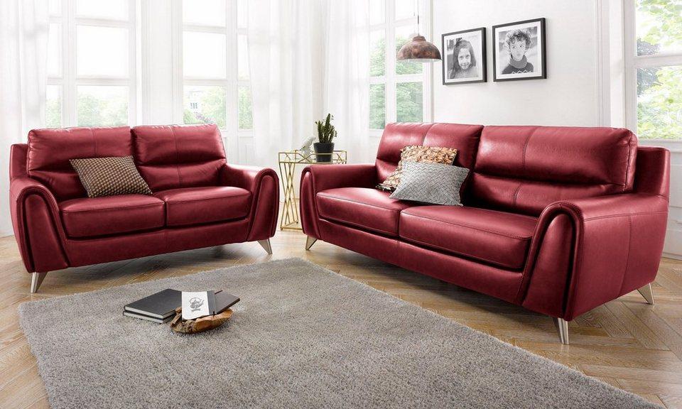 garnitur bestehend aus 2 und 3 sitzer frei im raum stellbar online kaufen otto. Black Bedroom Furniture Sets. Home Design Ideas