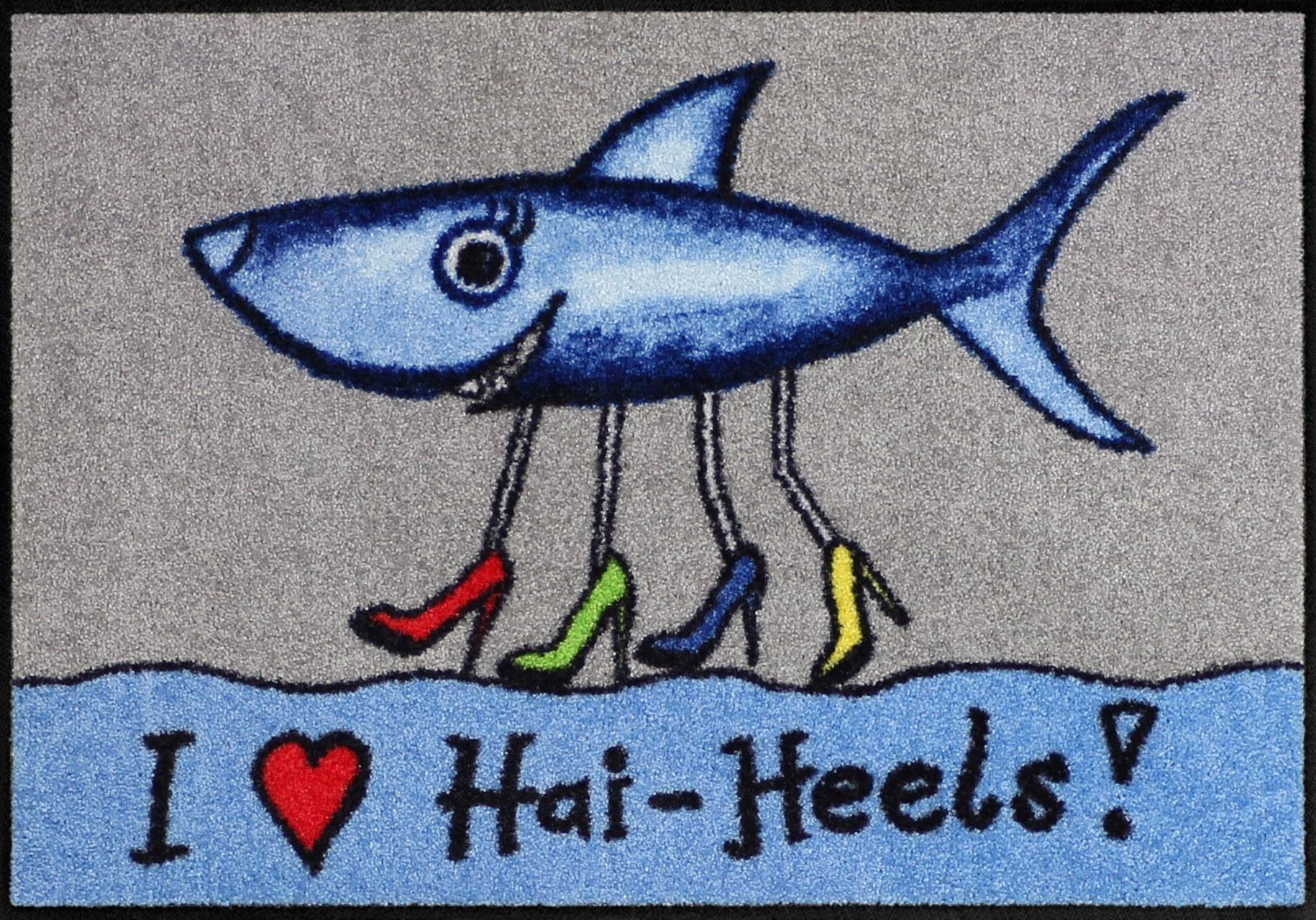 Fußmatte »Hai Heels«, Salonloewe, rechteckig, Höhe 6 mm
