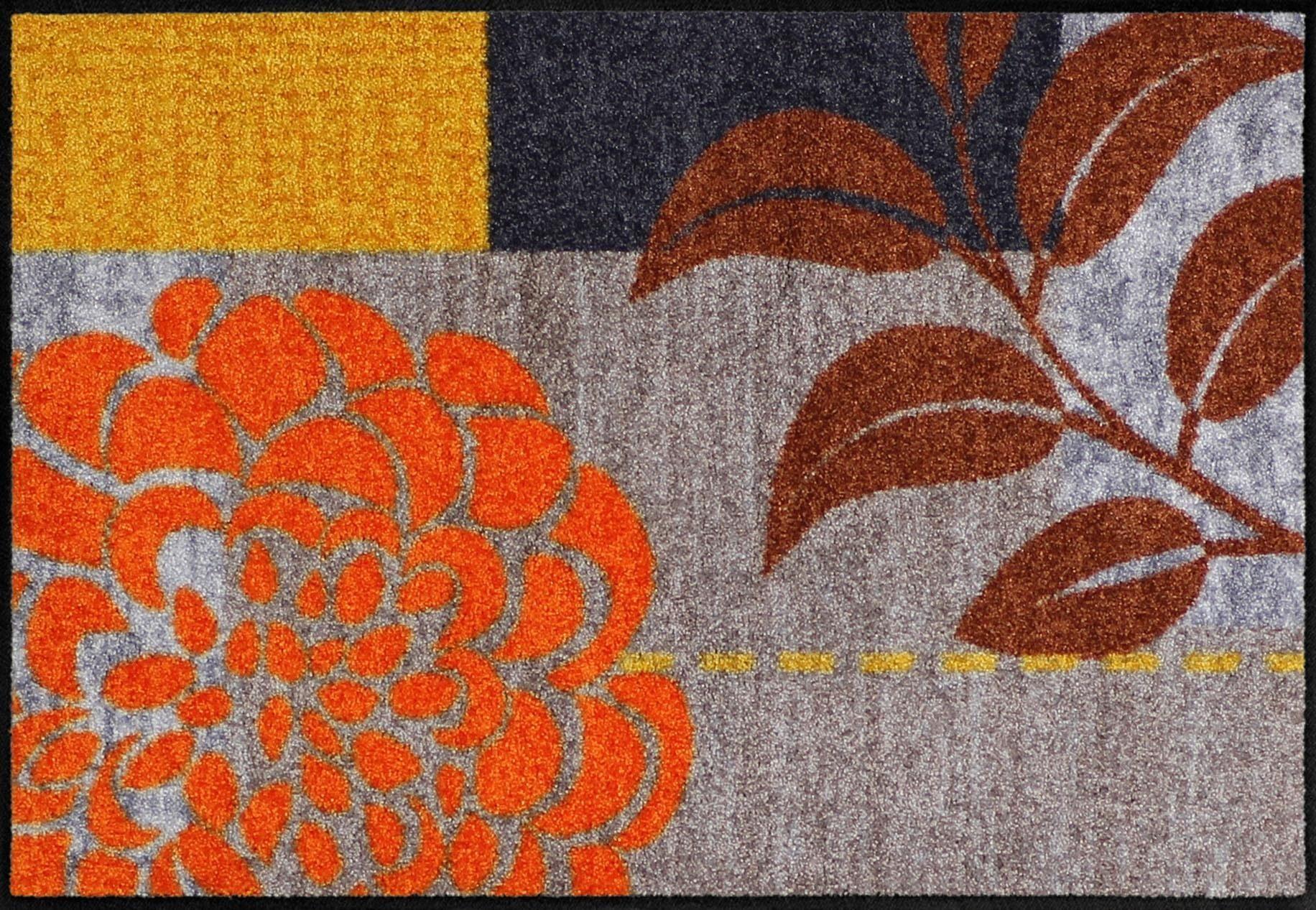 Fußmatte »Flower Squares«, Salonloewe, rechteckig, Höhe 6 mm, In- und Outdoor geeignet