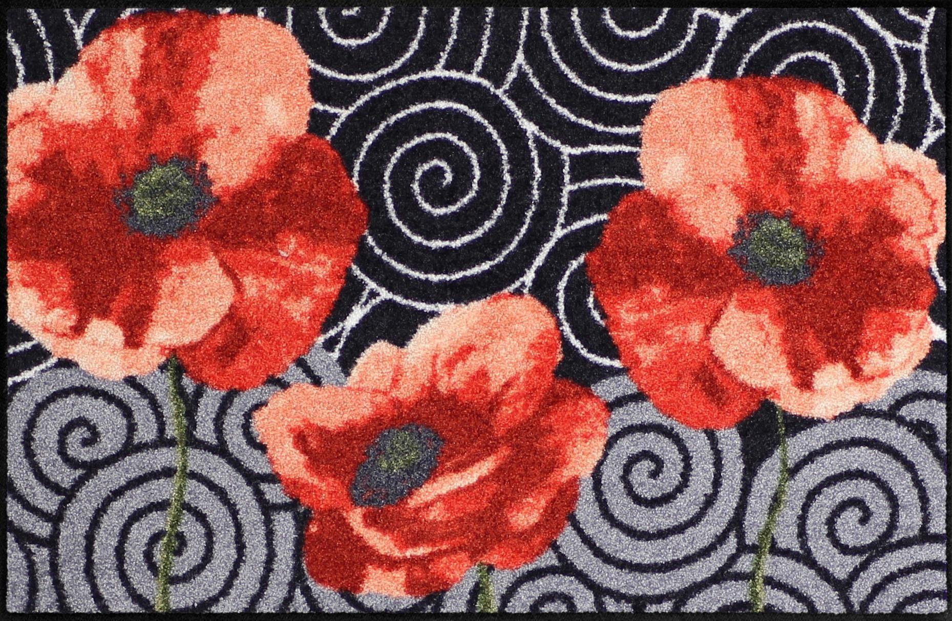 Fußmatte »Mohnkringel«, Salonloewe, rechteckig, Höhe 6 mm