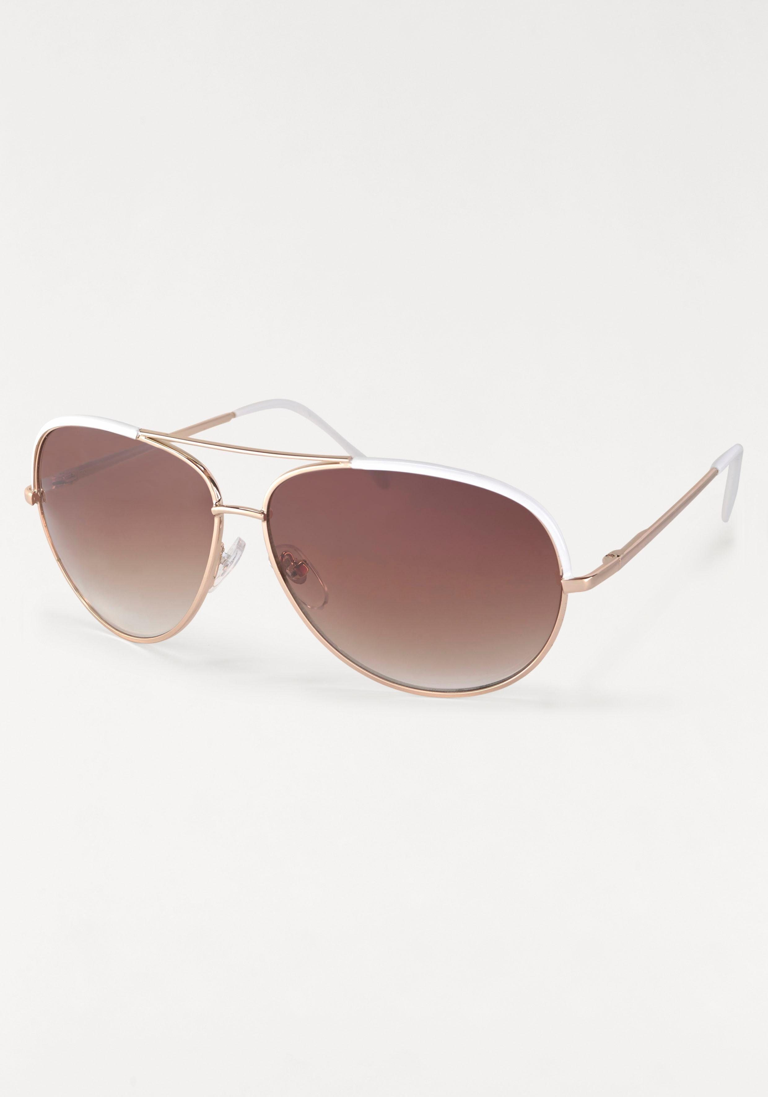 Sonnenbrille im Piloten-Stil, Aviator Look, Metallgestell
