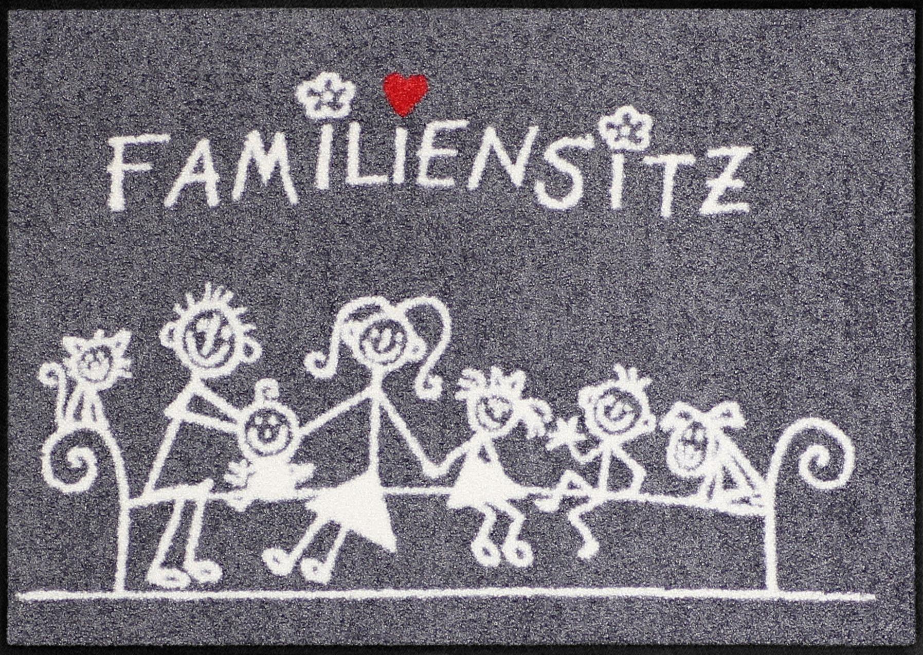 Fußmatte »Familiensitz«, Salonloewe, rechteckig, Höhe 6 mm
