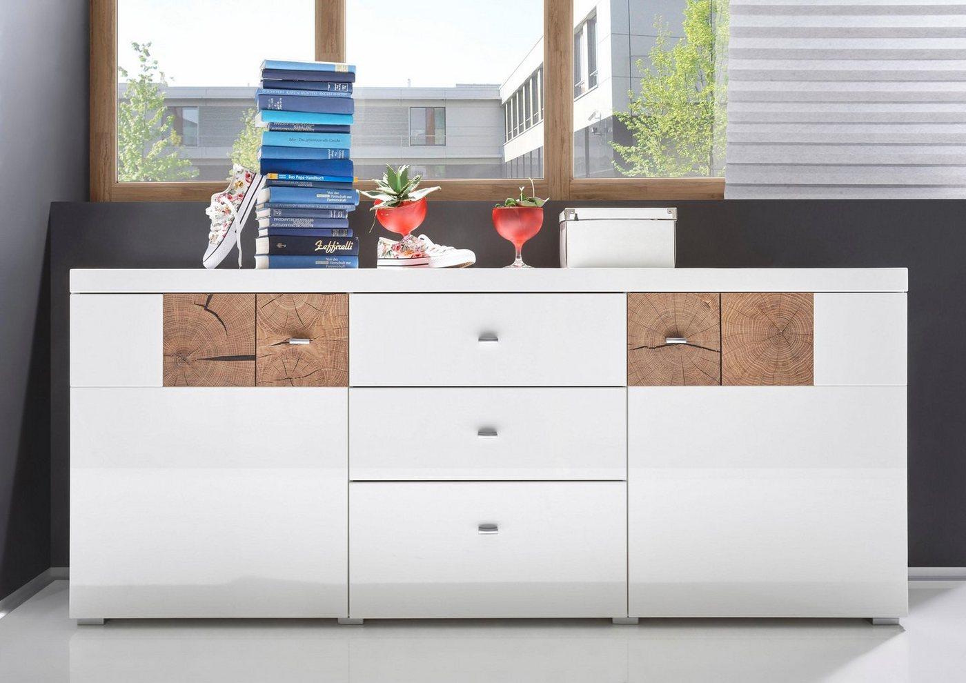 Sideboard Breite 180 cm weiß | 05901730908848