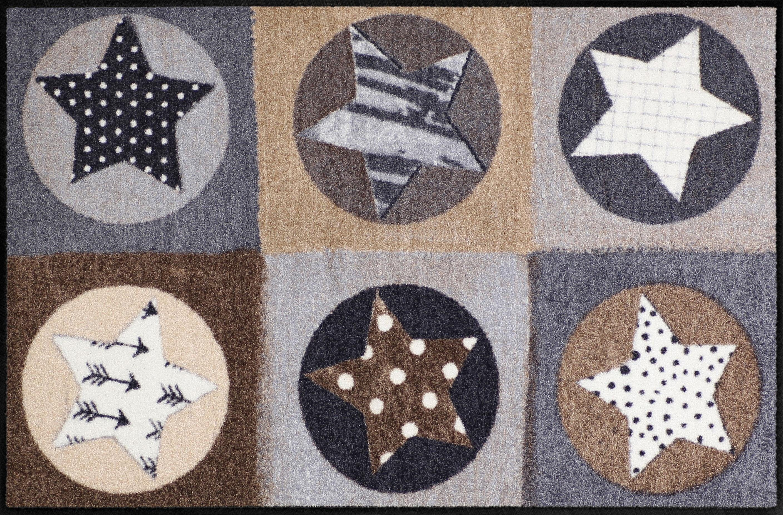 Fußmatte »Stars Karo«, Salonloewe, rechteckig, Höhe 6 mm, In- und Outdoor geeignet
