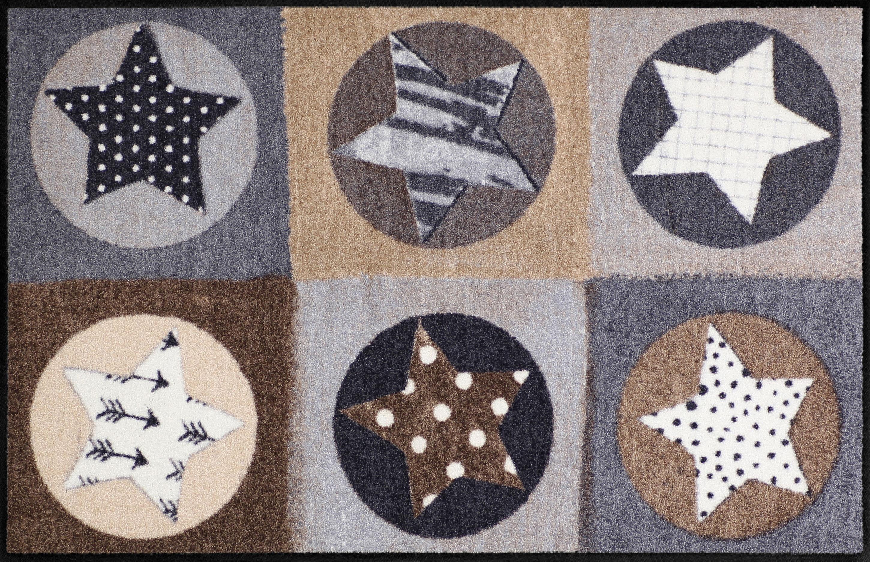 Läufer »Stars Karo«, Salonloewe, rechteckig, Höhe 6 mm