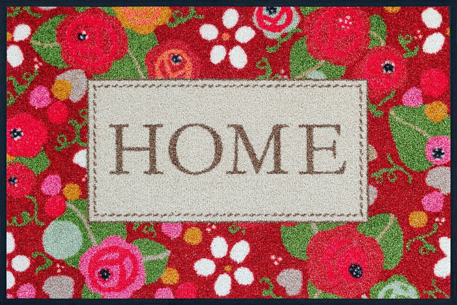 Fußmatte »Rose Cottage«, wash+dry by Kleen-Tex, rechteckig, Höhe 7 mm