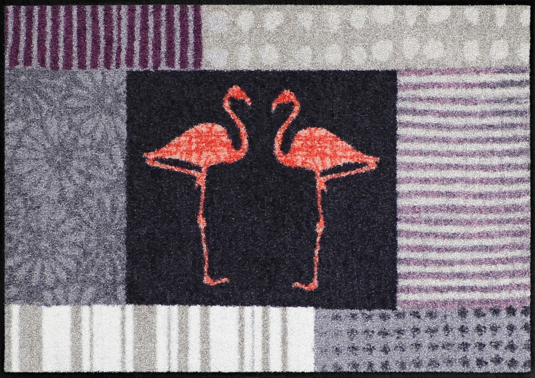 Fußmatte »Flamingo Talk«, Salonloewe, rechteckig, Höhe 6 mm