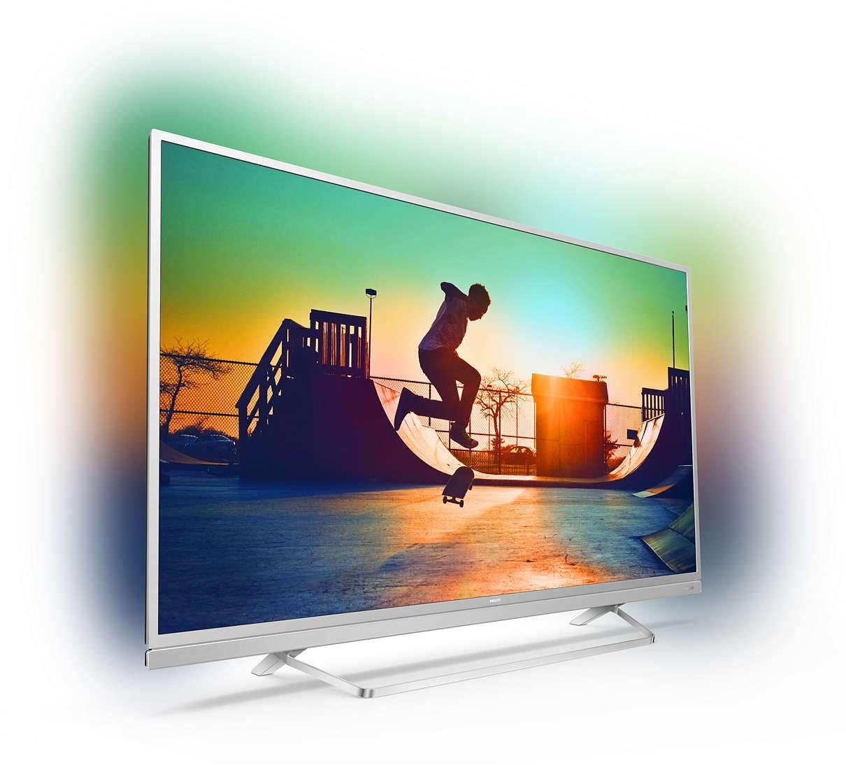 Philips 49PUS6482/12 LED-Fernseher (49 Zoll, 4K Ultra HD, Smart-TV, Ambilight)