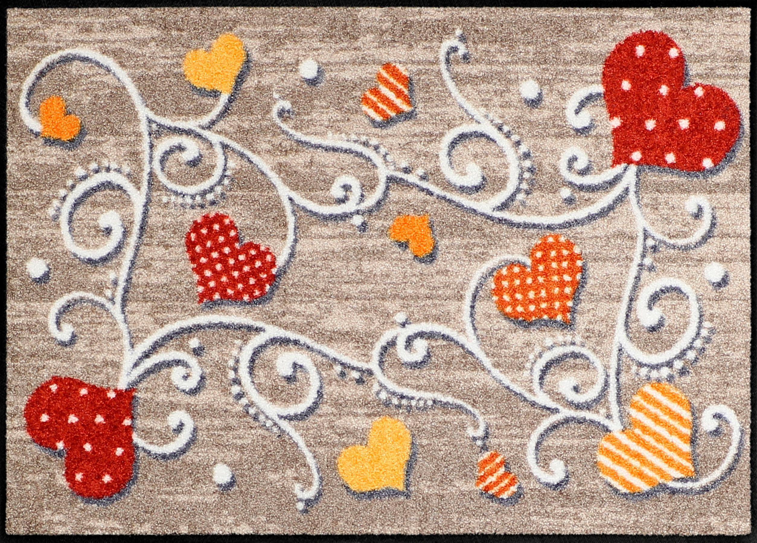 Fußmatte »Herzgarten«, Salonloewe, rechteckig, Höhe 6 mm