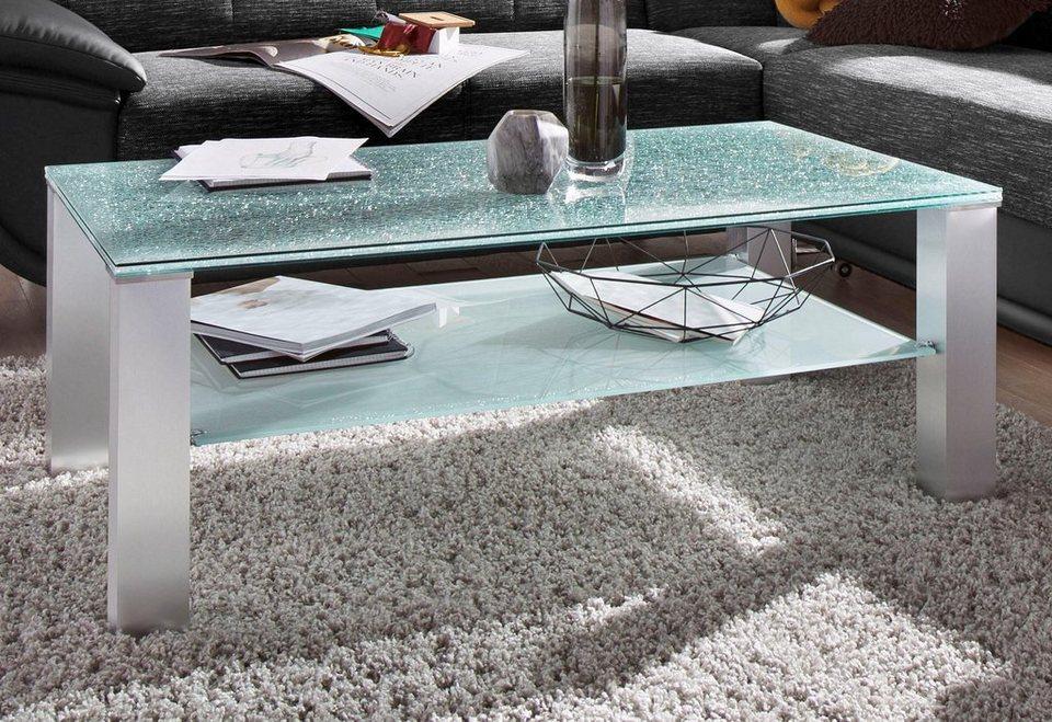couchtisch rechteckig mit crashglasplatte kaufen otto. Black Bedroom Furniture Sets. Home Design Ideas