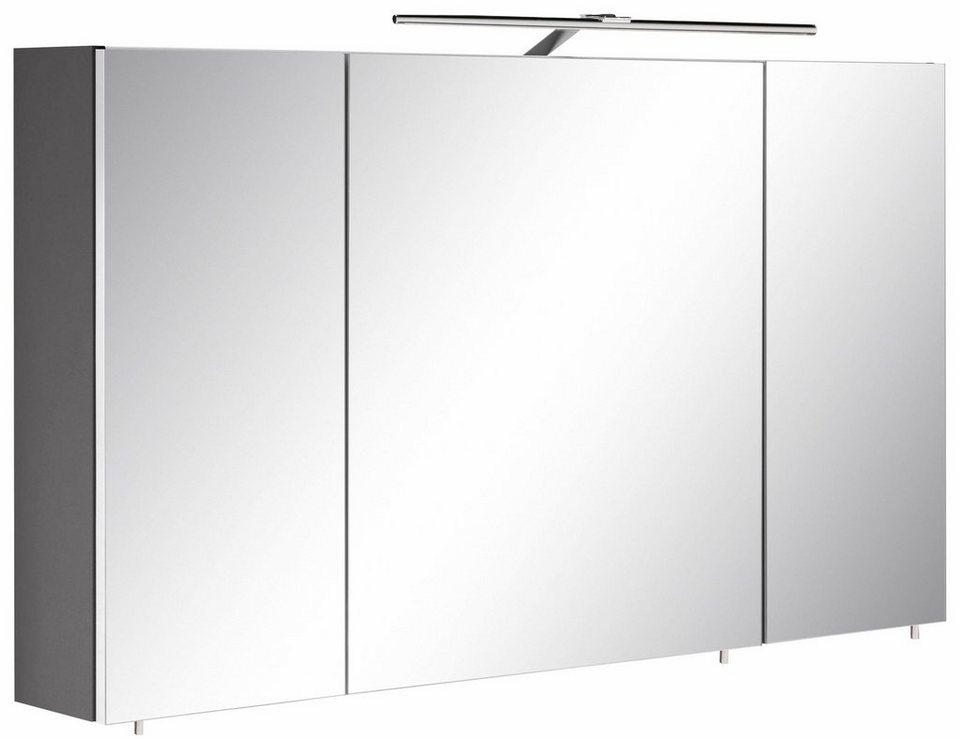 optifit spiegelschrank doha mit led beleuchtung und soft close funktion online kaufen otto. Black Bedroom Furniture Sets. Home Design Ideas