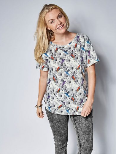 Janet Und Joyce By Happy Size Shirt Mit Allover-print