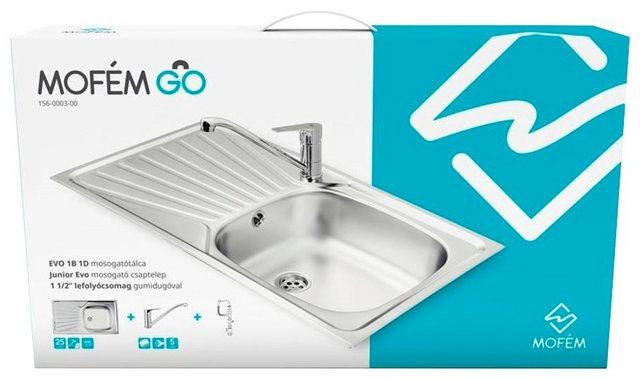 MOFÉM Küchenspüle »Eco 1B1D«  mit Junior-Spültischarmatur   Küche und Esszimmer > Spülen > Spülenarmaturen   MOFÉM