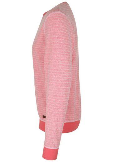 Pepe Jeans Sweatshirt DENNIS, strukturierter Sweatfleece außen