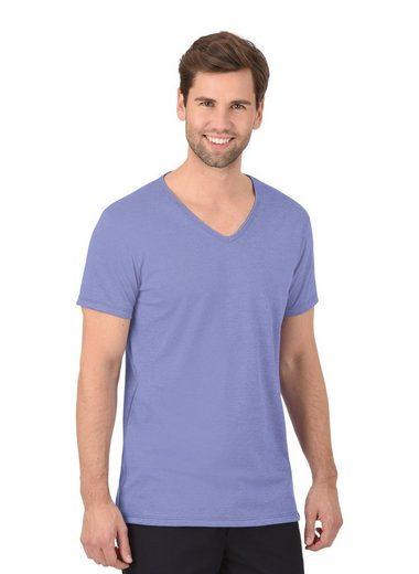 Trigema Melange V-Shirt - Slim Fit