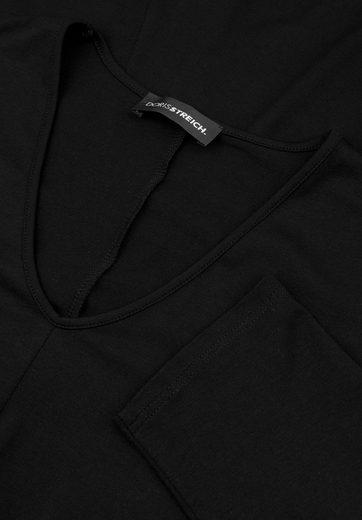 Doris Streich T-Shirt MIT GLOCKIGEM ZIPFELSAUM, große Größen