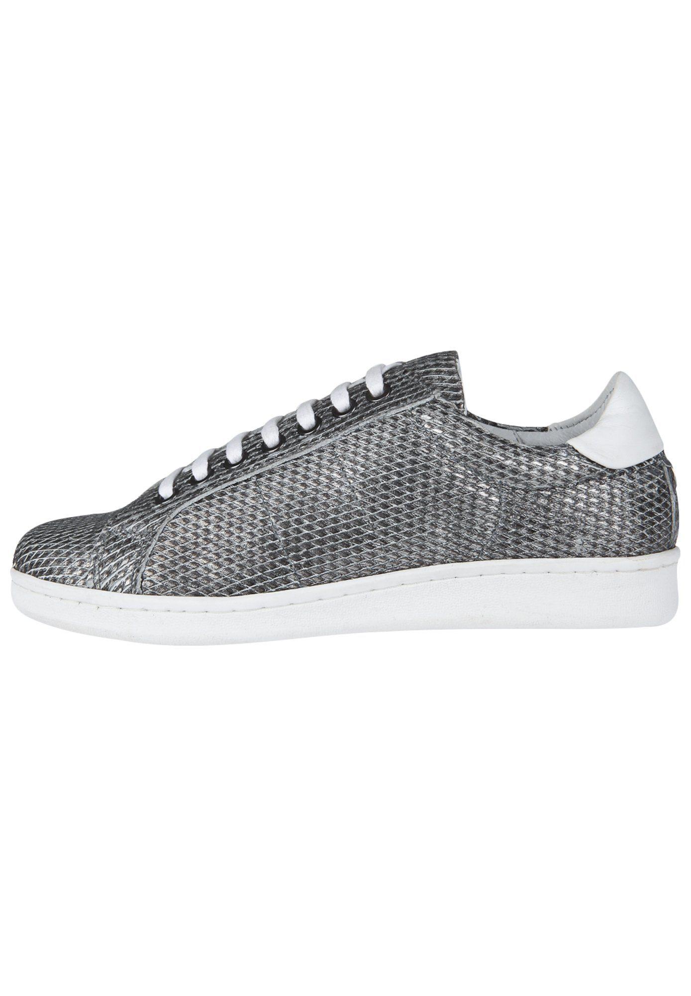 Maruti NENA SMALL DIAMOND Sneaker, Strukturiertes Leder mit Rautenmuster online kaufen  silberfarben