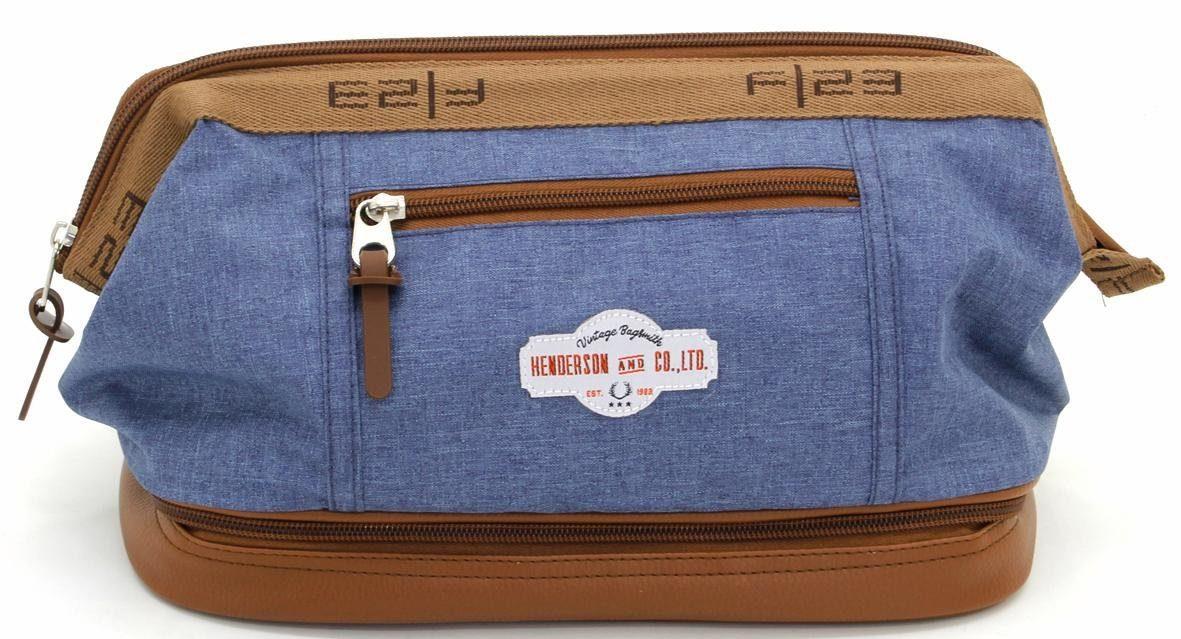 F23™ Kulturtasche mit Nassfach, »blau meliert«
