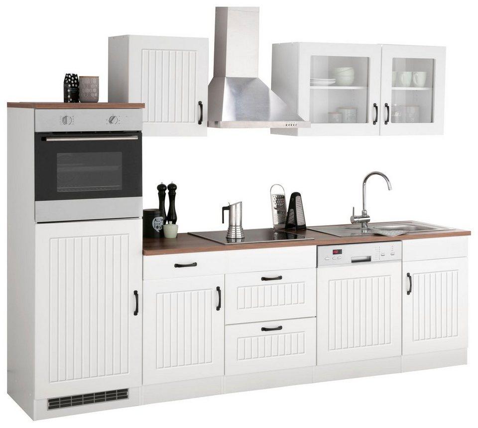 HELD MÖBEL Küchenzeile »Athen«, mit E-Geräten, Breite 280 cm online kaufen  | OTTO