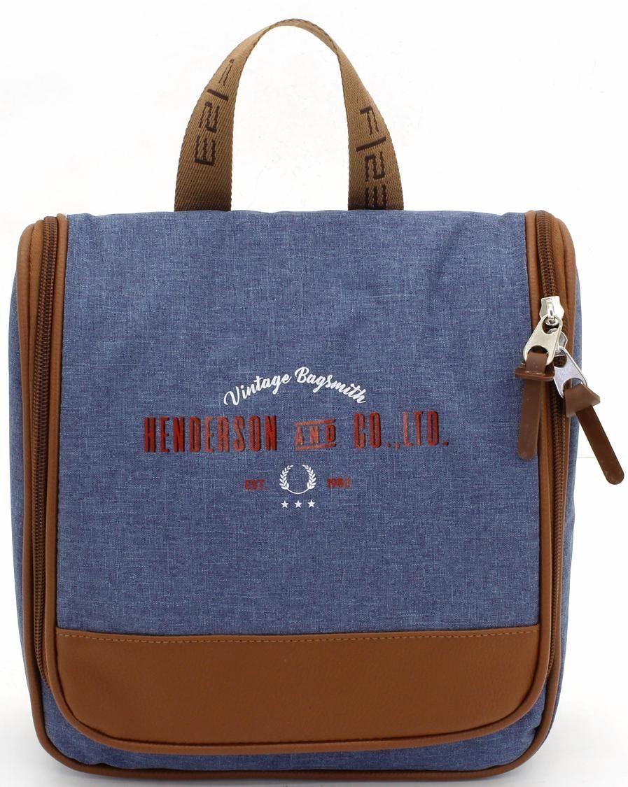 Henderson & Co Kulturtasche zum Aufhängen, »blau meliert«