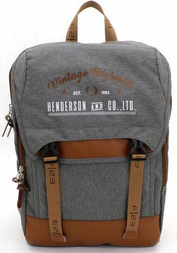F23™ Laptoprucksack »Henderson & Co 17 L - grau meliert«