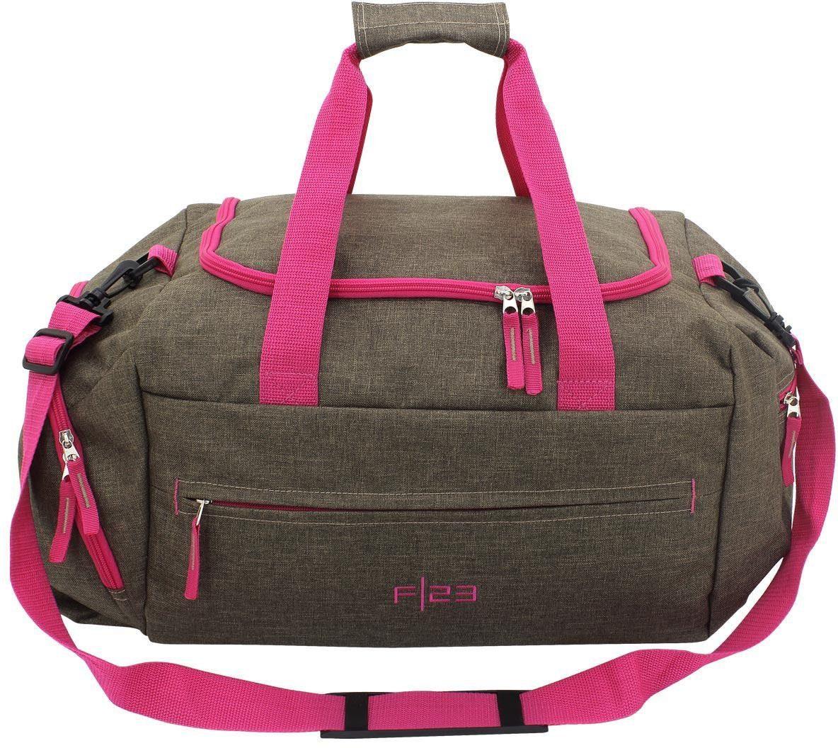 F23™ Reisetasche, »Two-Tone braun/pink«