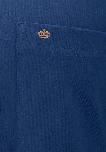 Herren Seidensticker Pyjama mit bedruckter Hose blau | 04047067416890