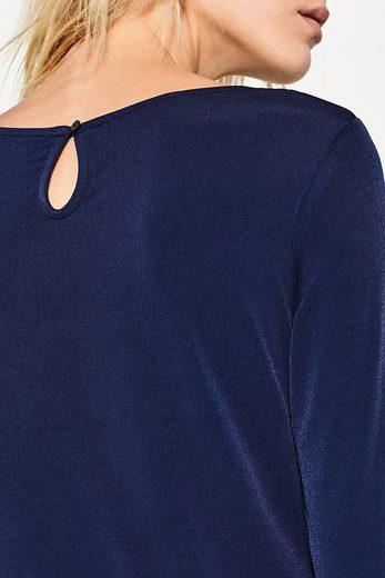 ESPRIT COLLECTION Crêpe-Shirt mit Fältchen und Stretchanteil
