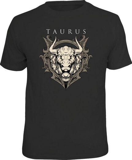 LOBO NEGRO® T-Shirt »Sternzeichen Stier«