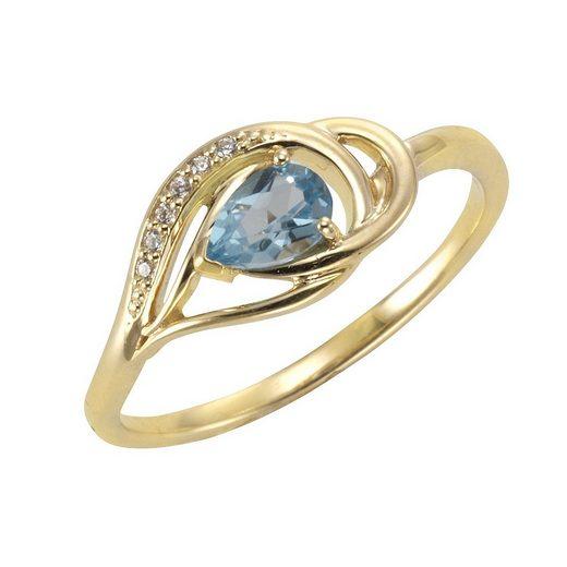 Vivance Ring »375/- Gelbgold mit Blautopas/Zirkonia«