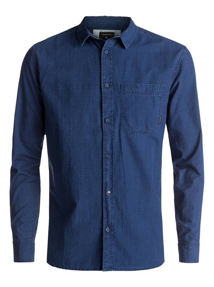 Herren Quiksilver Langarm-Hemd Indigo Rise blau | 03613372942006