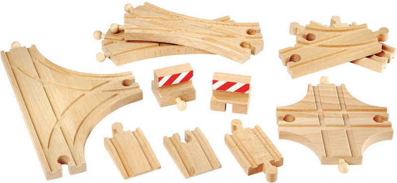 BRIO® Gleise-Set »Ergänzungsset Holzschienensystem, »Brio WORLD Schienen und Weichensortiment«, FSC®-Holz aus gewissenhaft bewirtschafteten Wäldern