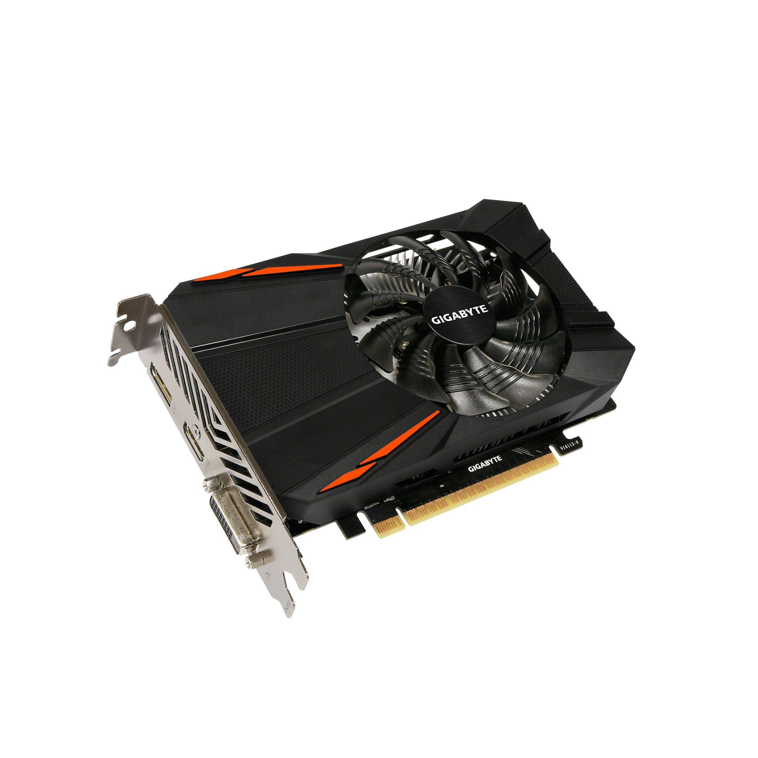 GIGABYTE Grafikkarte NVIDIA GeForce® GTX 1050 D5 2GB »GV-N1050D5-2GD«