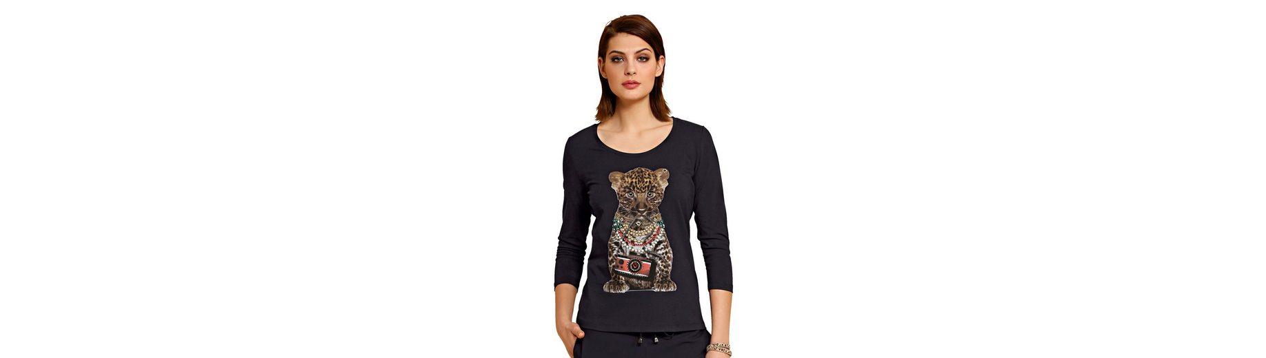Alba Moda Shirt mit Print und Dekosteinchen Footaction Günstig Online mYl8XYliBQ