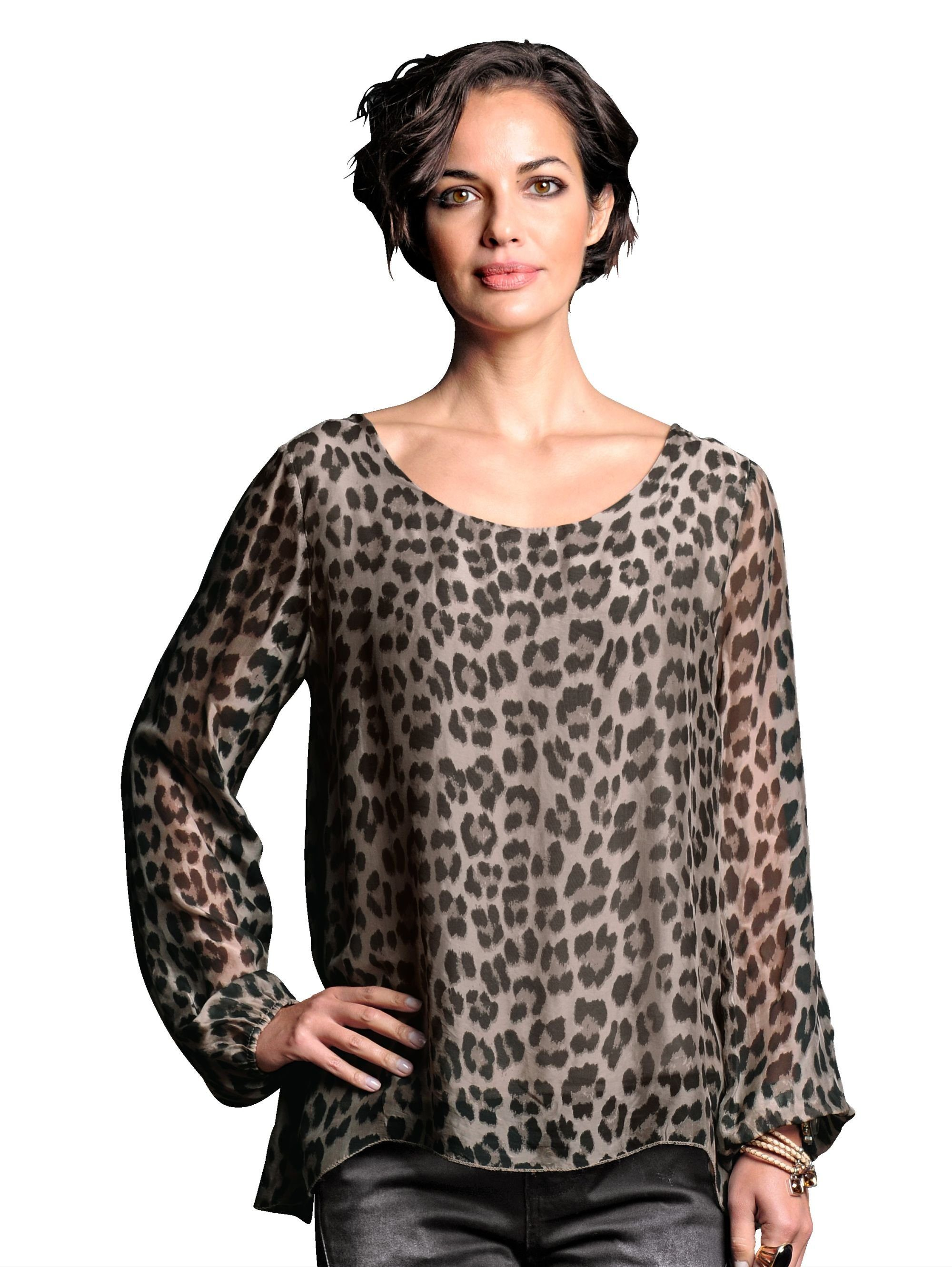 Alba Moda Blusenshirt im Animalprint