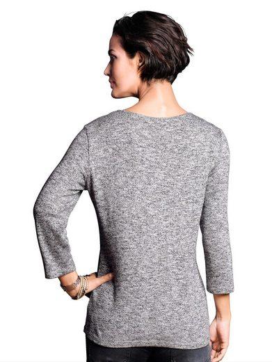 Alba Moda Shirt mit Leo- und Streifendruck