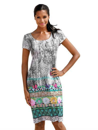 Alba Moda Strandkleid im attraktiven Printmix