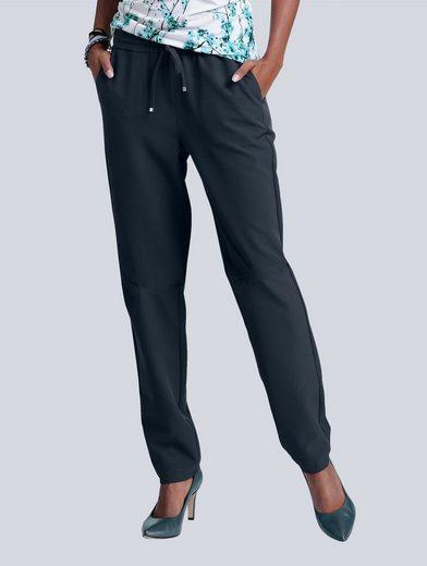 Alba Moda Jogg-pantalon Avec Bande Élastique Et Bande De Liaison