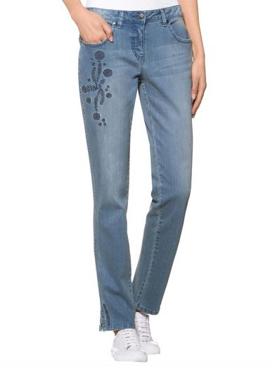 Alba Moda Jeans mit exklusivem Stickerei-Motiv