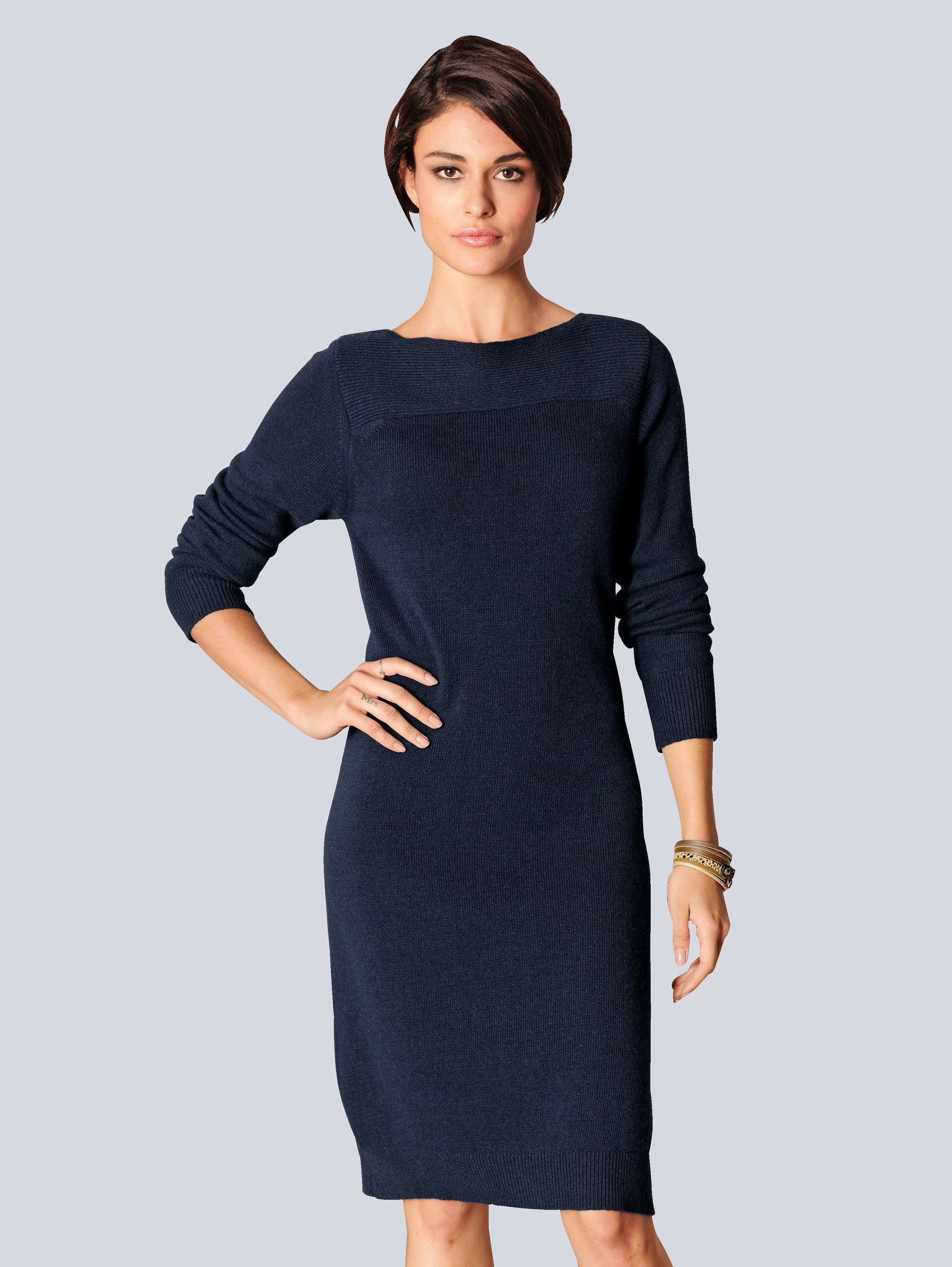 Strickkleid blau