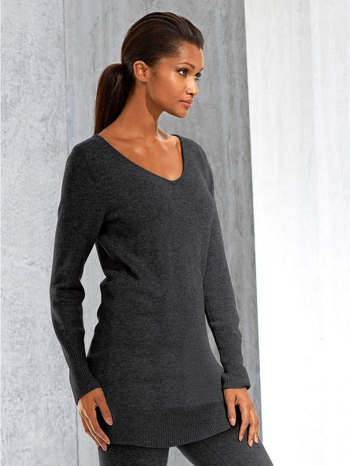Alba Moda Longpullover in softer Qualität mit Wollanteil | Bekleidung > Pullover > Longpullover | Schwarz | Alba Moda