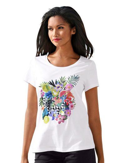 Alba Moda Strandshirt Shirt mit Glitzersteinen