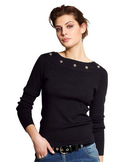 Alba Moda Pullover mit Nietendekoration